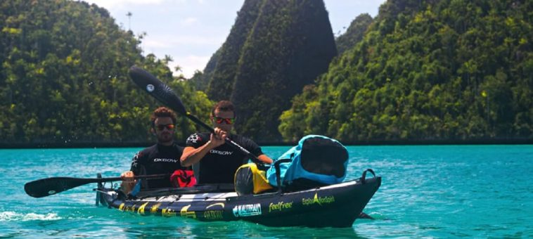 Kayak pliant Grand Narak 550 - 2 personnes en mer