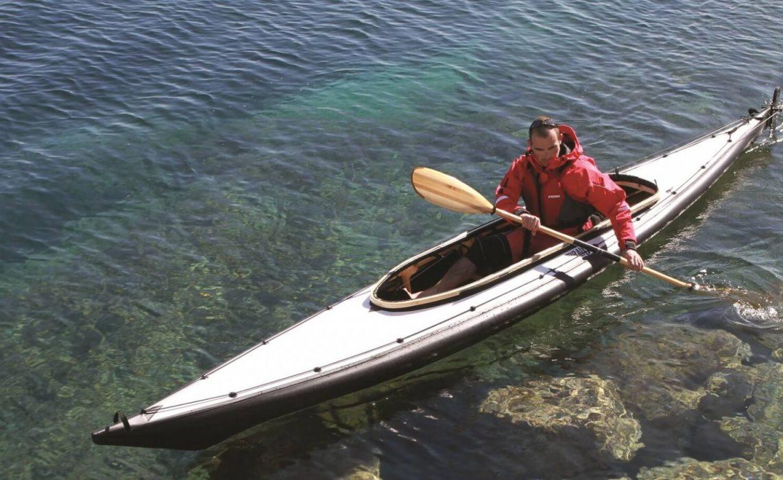 Kayak pliant Grand Narak 550 en mer